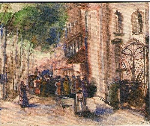 In the street of Tashkent. 1942
