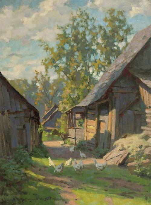 In the village. 1956