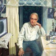 Konstantin Shatov - chief curator of the museum in Borodino. 1977
