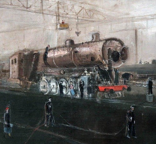 Lugansk. At the factory. 1935. Oil on canvas. State Tretyakov Gallery