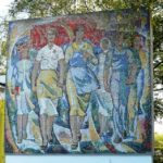 Industry of Socialism precious mosaic map of USSR