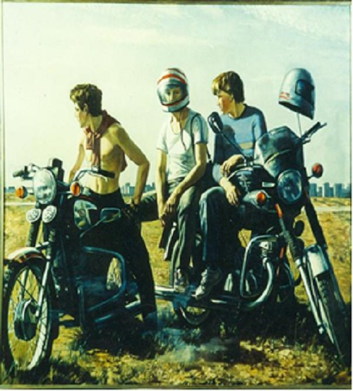 Motor cyclists