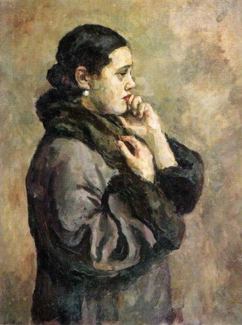 Natalia Konchalovskaya. Portrait. 1925