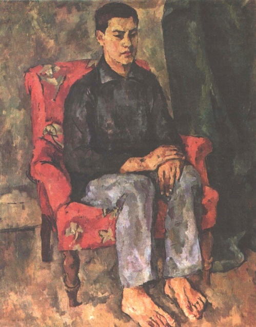 Portrait of the artist's son. Oil. 1921