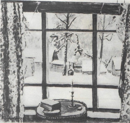 Window of poet. Oil 1935