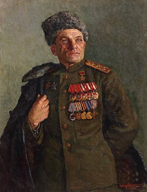Portrait of a Hero of the Soviet Union M.D. Siyanin (1948)