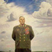 Portrait of the thrice Hero of the Soviet Union pilot A.I. Pokryshkin. 1977-1979