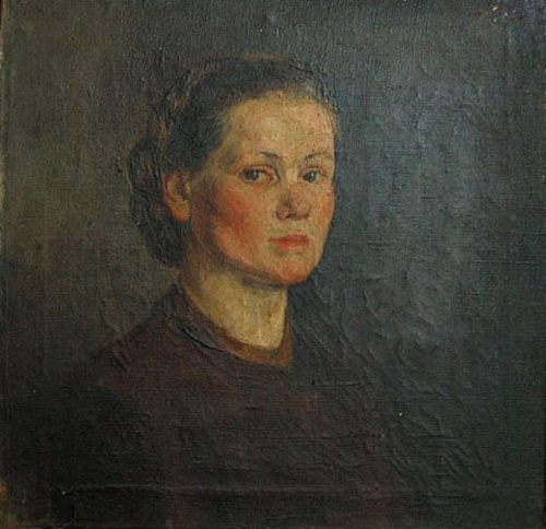 Portrait of wife