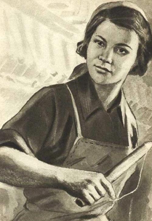 Propaganda poster Dusya Vinogradova