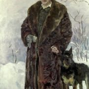 Self-portrait with the dog 1933