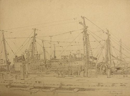 Sea fishing fleet. 1959