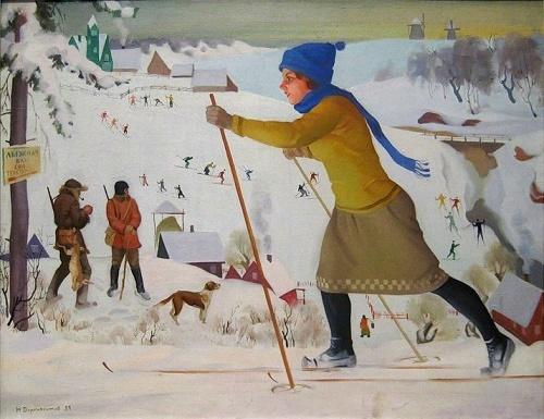 Soviet artist Nikolay Dormidontov (4 February 1898 - 24 October 1962)