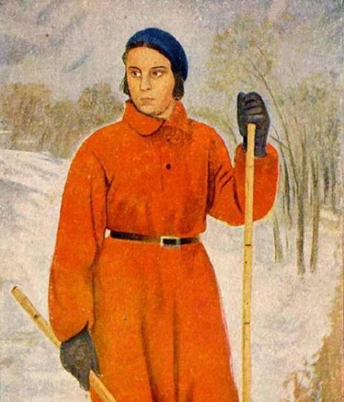Skier woman. 1932
