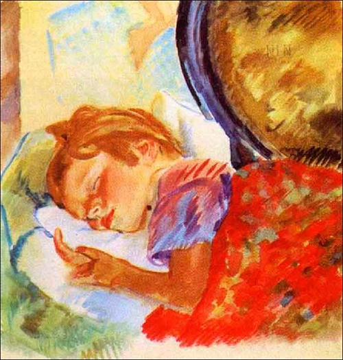 Sleeping girl. 1929