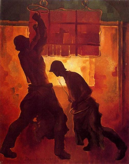 Steel workers. 1930