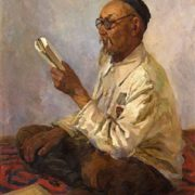 Teacher A.I. Dyushebayev. 1956