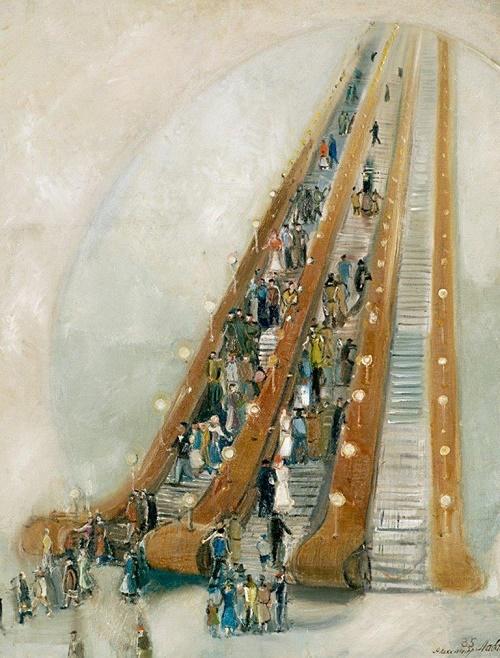 The first Soviet escalator 1935