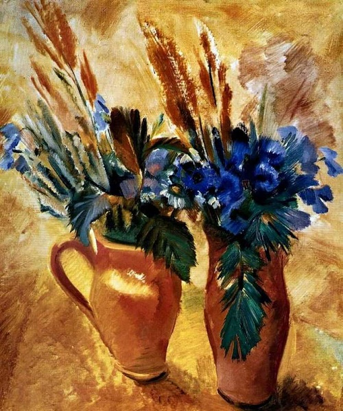 Two pots with flowers. 1930