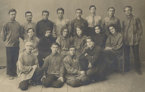 Voronezh, 1925. Blue Blouse team
