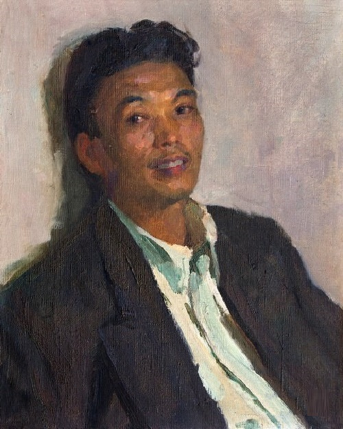 Young man student, portrait