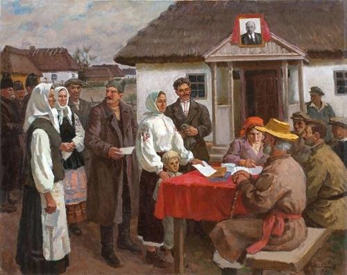 Soviet Ukrainian painter Yuri Balikov