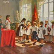 Admission to the pioneers. 1953. Ivan Tikhiy (Ukraine, 1927-1982)