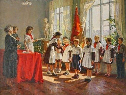 Admission to the pioneers. 1953. Ivan Tikhiy (Ukraine, 1927-1982)