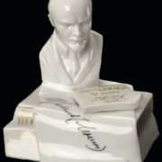 An inkwell with a bust of Lenin. 1924