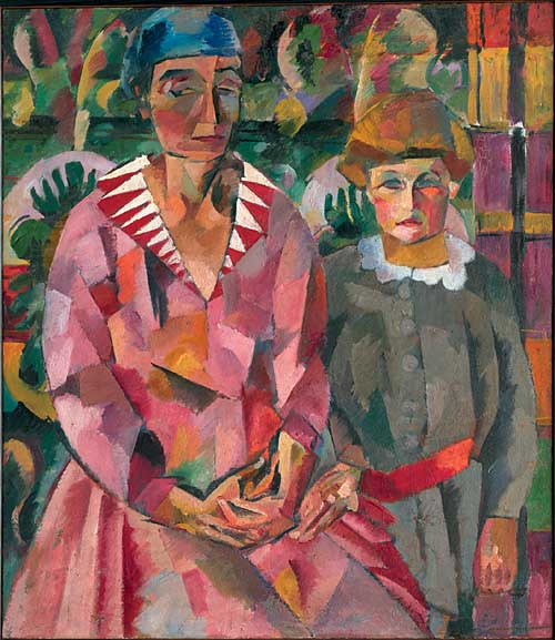 Artist's Wife and Daughter, portrait 1915