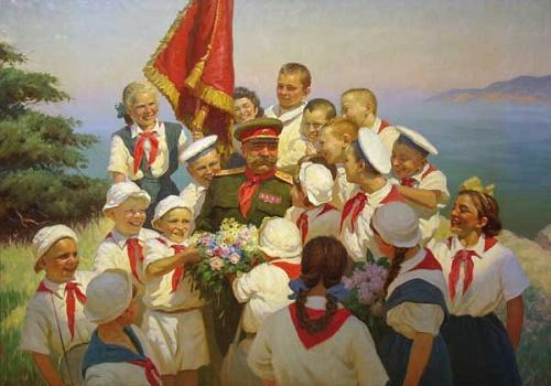 B.V. Volkov. Pioneers in Crimea. 1952