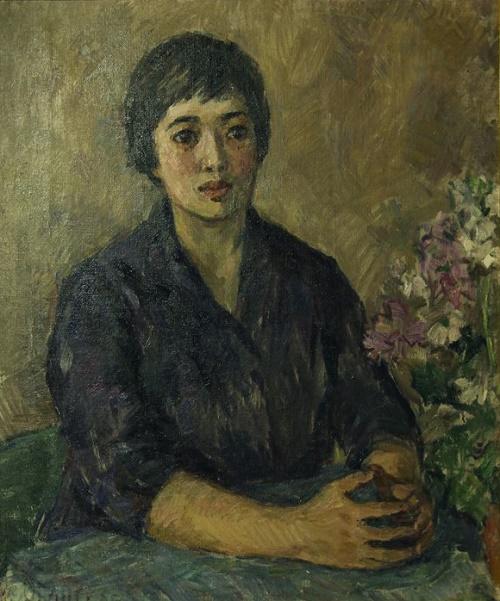 Soviet portrait artist Tatyana Oranskaya. Chinese revolution woman. 1960