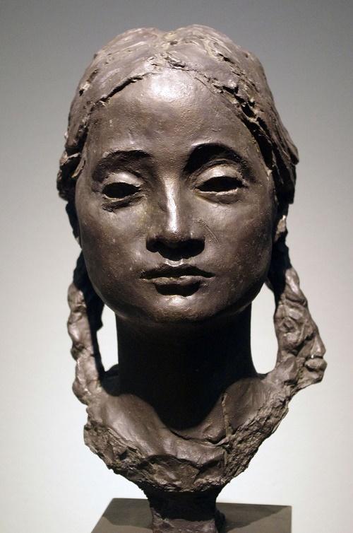 Girl with pigtails (Lena Krasina). 1936