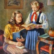 Homework. 1954. lidiya Auza (1914-1989)