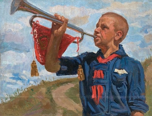 Ivan Galaganov (1915-2009). Pioneer. 1944