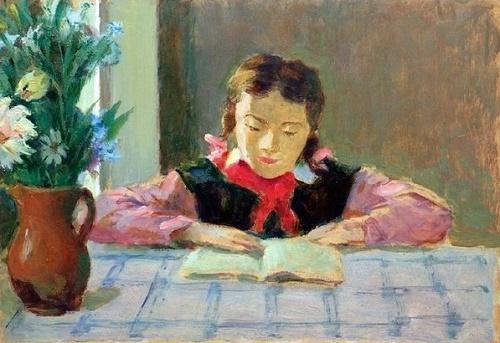 Ivan Grinyuk (1915-1996). Pioneer girl. 1979