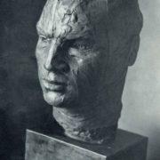 Hero of the Soviet Union pilot V. Chkalov. Sketch. Bronze. 1937