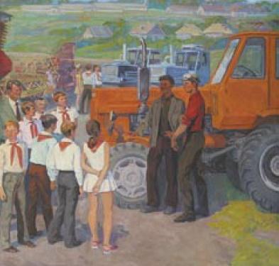 Meeting of pioneers with mechanics. 1978