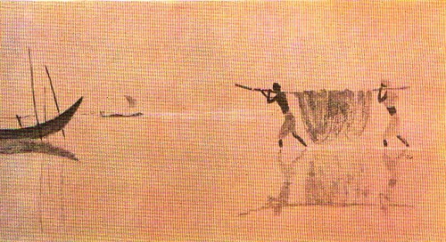 In the Bay of Bengal. From 'On India' series. Watercolor. 1960