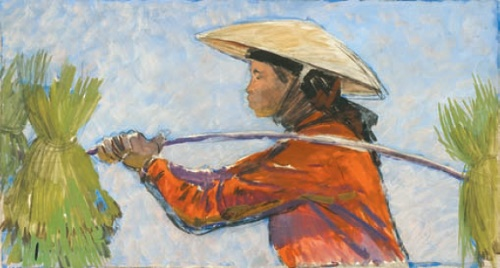 From Vietnam series. 1960s Gouache on paper