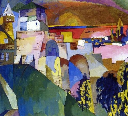 Nizhny Novgorod. 1915. Oil, canvas, Tretyakov Gallery