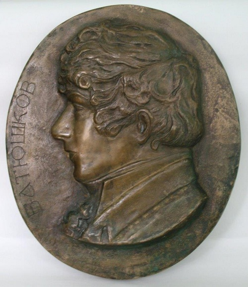 Oval bas-relief 'K.N. Batiushkov ', author the USSR State Prize laureate, sculptor Vyacheslav Klykov