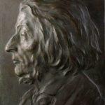 Soviet Russian sculptor Vladimir Domogatsky