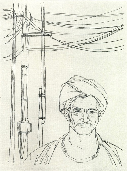 Constructor of the Aswan Dam. 1970. Monotype
