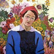 Portrait of M.P. Lentulova (artist's wifeе). 1913