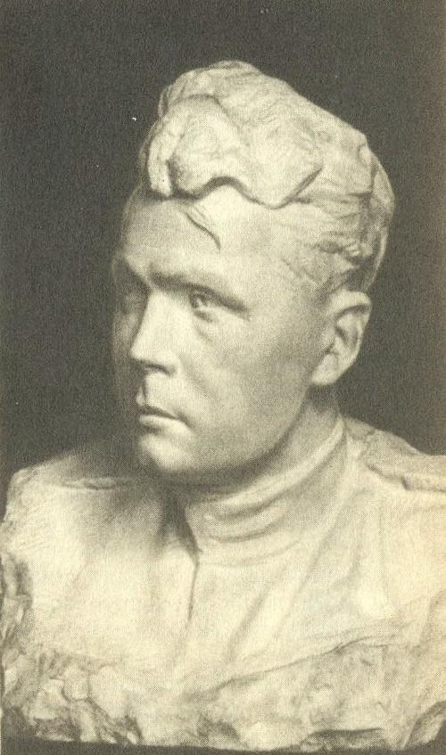 Portrait of Poet Tvardovsky. 1943. Marble