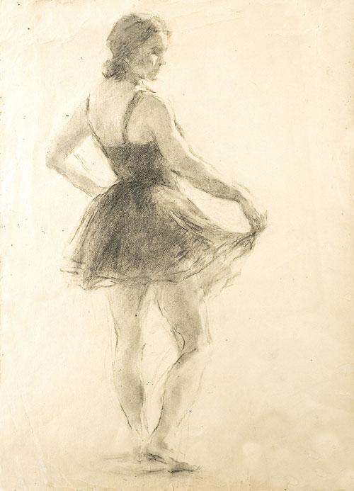 Posing, ballerina portrait. 1936