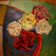 Roses. Still life. oil on canvas