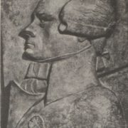 Robespierre. Bas relief. Painted plaster. 1920