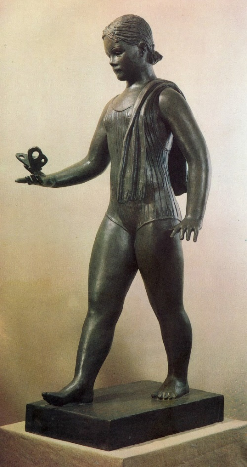 A girl with a butterfly. 1936. Bronze