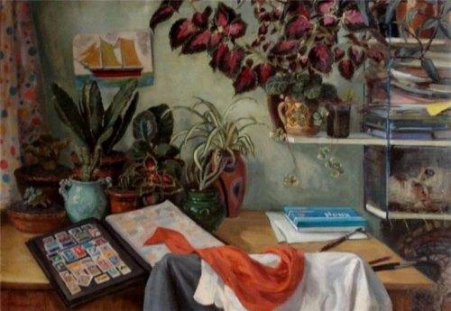 Son's desk. School years. 1972. A. Bogomolov
